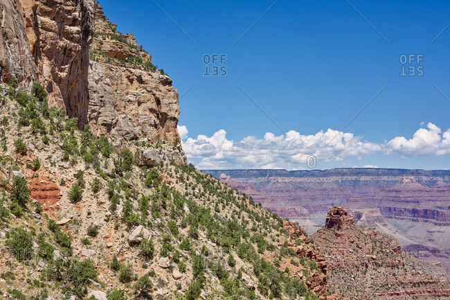 View over Grand Canyon National Park from the Bright Angel Trail, Arizona