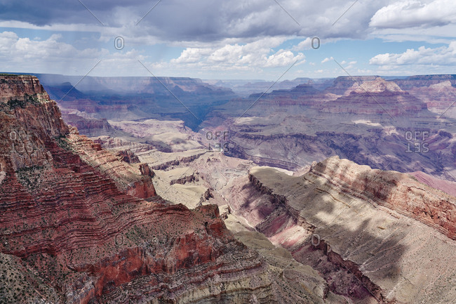 Aerial view over the Grand Canyon National Park