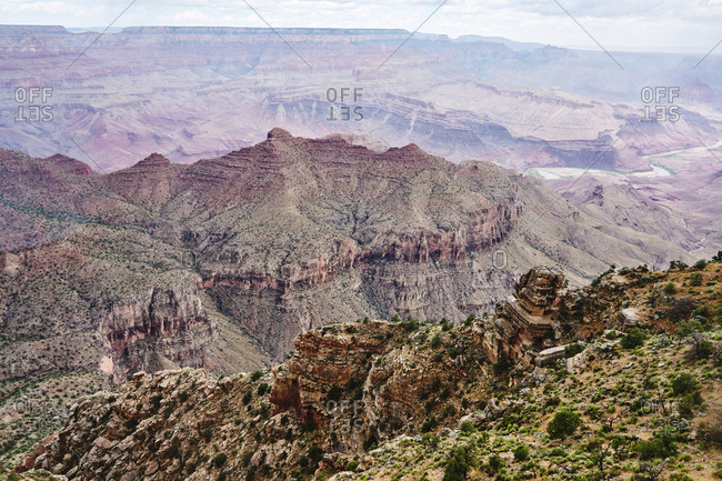 Bird's eye view over Grand Canyon National Park