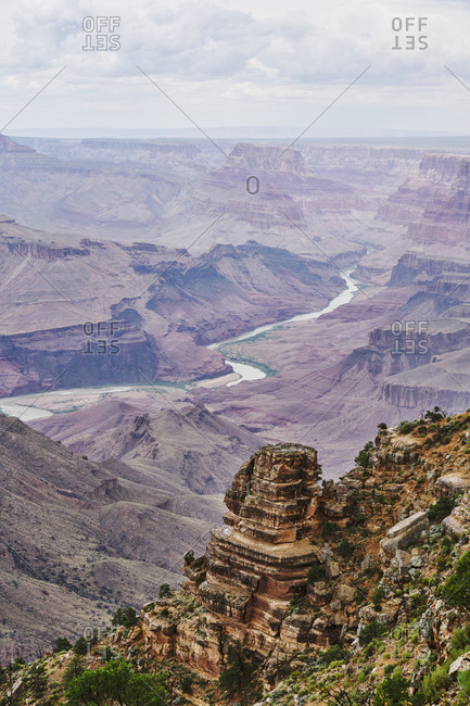 View from the Desert View Watchtower, Grand Canyon National Park, Arizona