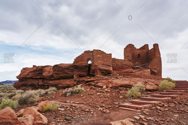 Ancient remains at Wupatki National Monument, Arizona