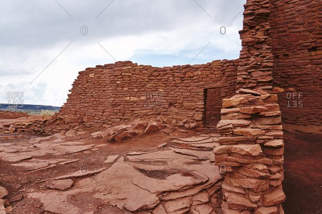 Ancient Pueblo remains at Wupatki National Monument, Arizona