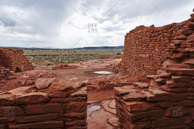 View from the Wukoki ruins complex at Wupatki National Monument, Arizona
