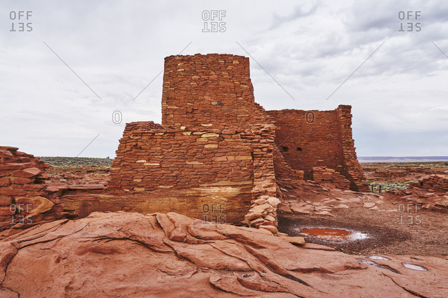 View of the Wukoki ruins complex at Wupatki National Monument, Arizona