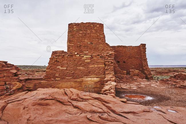View of the Wukoki ruins complex at Wupatki National Monument, Arizona