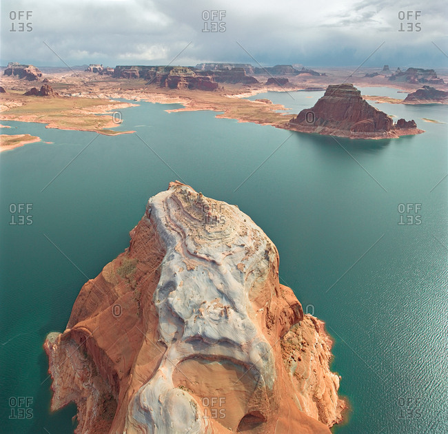 Aerial view of the Lake Powell, USA