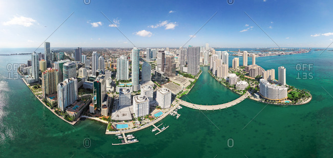 January 5, 2010: General aerial view of Miami, Florida, USA