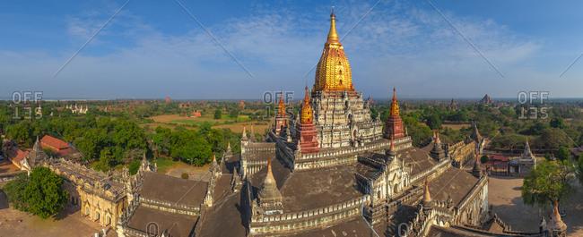 Aerial view of Ananda Temple, Bagan, Myanmar