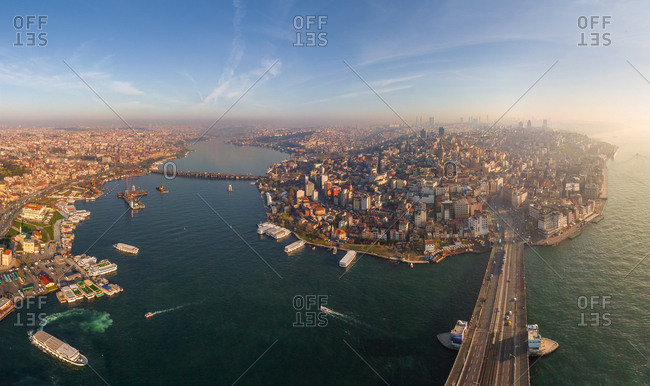 Panoramic aerial view of Istanbul, Turkey