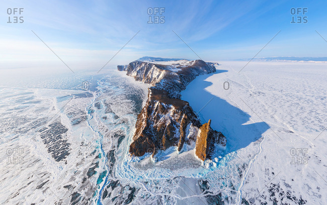 Aerial image of Lake Baikal, Russia