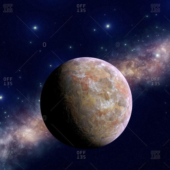 Mars-like, illustration.