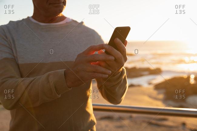 Man enjoying time by the sea