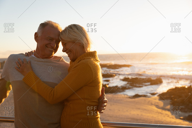 Couple enjoying time by the sea