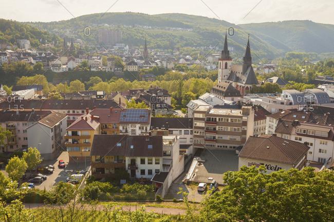 January 3, 2016: Townscape of Bingen, Germany