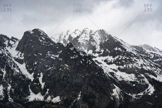 Snowcapped mountains in Grand Teton National Park, USA
