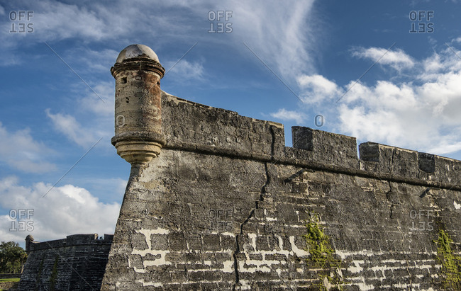Tower of Castillo de San Marcos in St. Augustine, USA