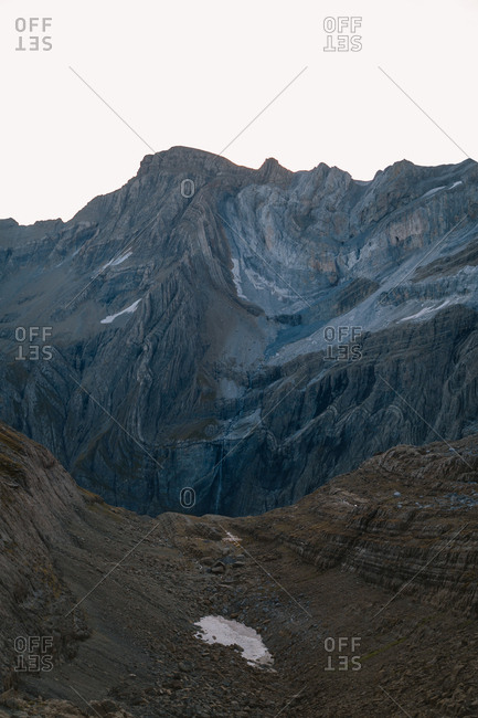 Early morning view of Gavarnie during a hike in French Pyrenees