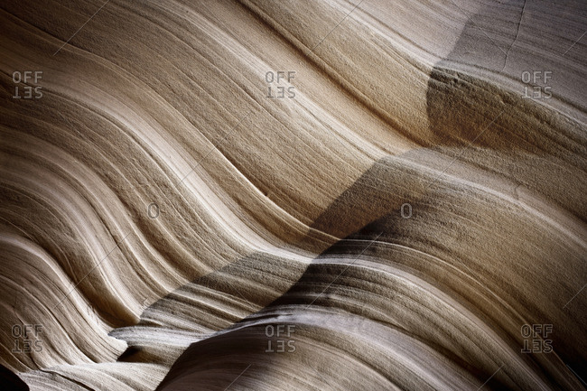 Natural patterns on eroded rock.