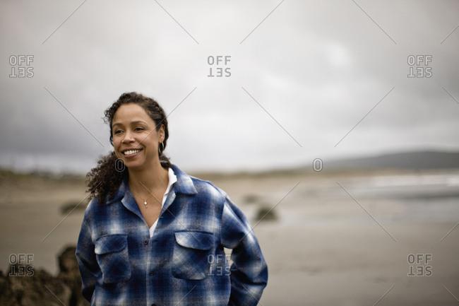 Mature woman at the beach