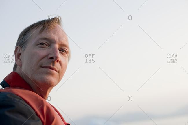 Portrait of a blond mature man