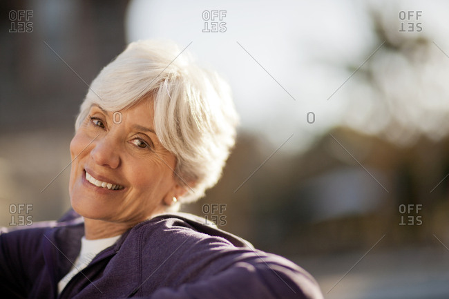 Portrait of a smiling senior woman.