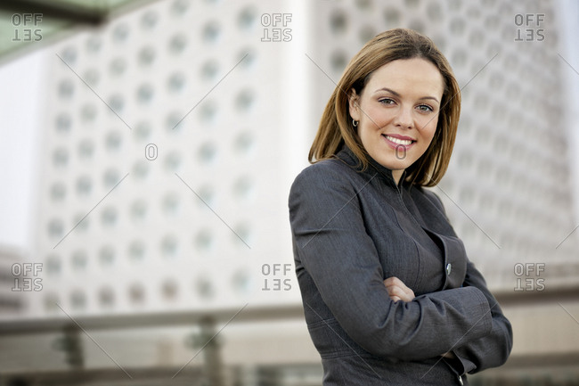 Portrait of a smiling mid adult businesswoman.