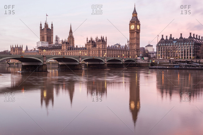 Houses of Parliament and Big Ben, London, England, UK