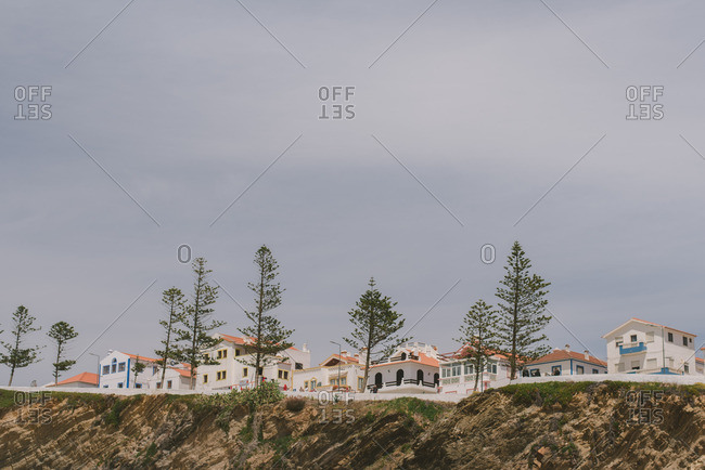 Algarve, Portugal - June, 24, 2017: Low angle view of homes on the coast of Alentejo, Portugal