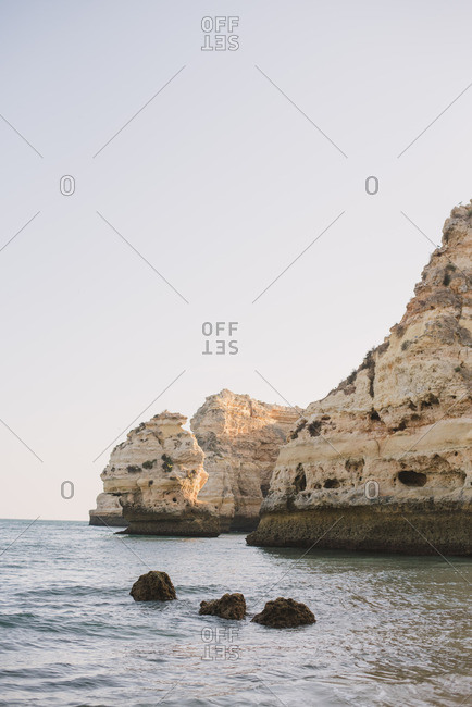 Rock formations on the coast of Algarve, Portugal