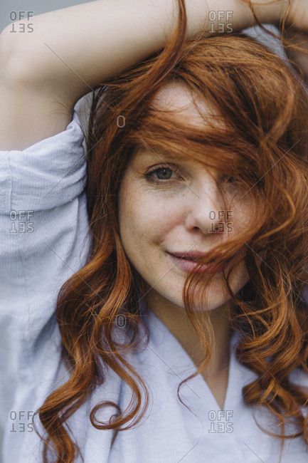 Portrait of beautiful redheaded woman