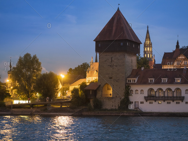 Germany- Constance- Lake- Constance- Rheintor Tower at Webersteig
