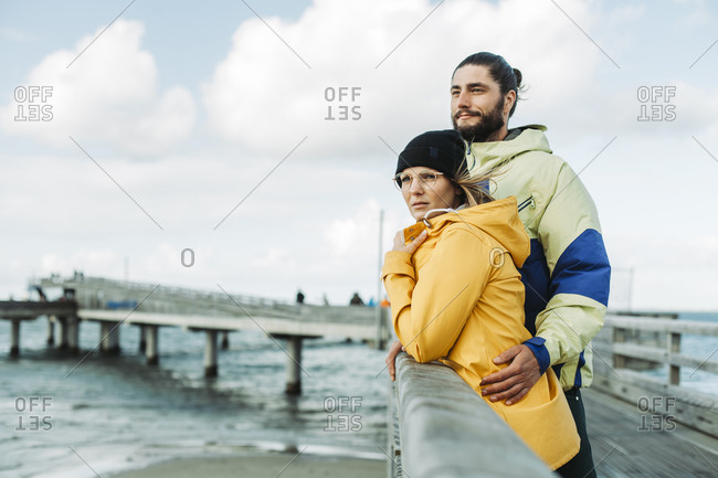 Couple on the pier in Heiligenhafen