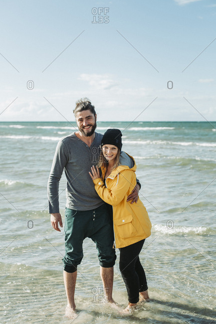 Couple at the beach in Heiligenhafen