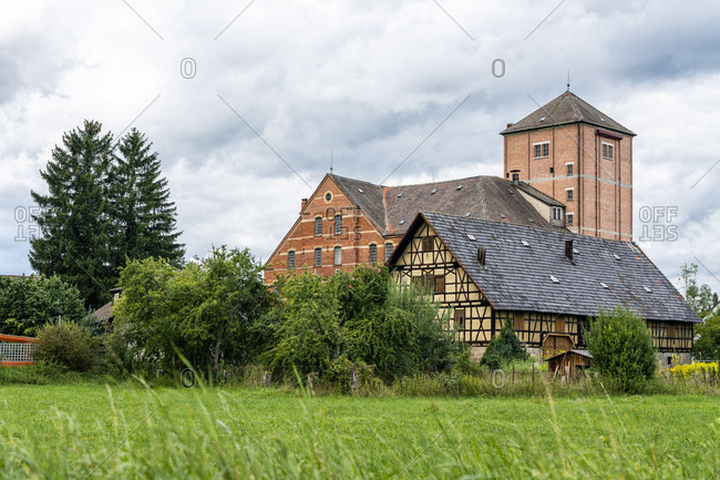 Old brick and half timbered building- Hahn Mill- Baden-Wurttemberg- Germany