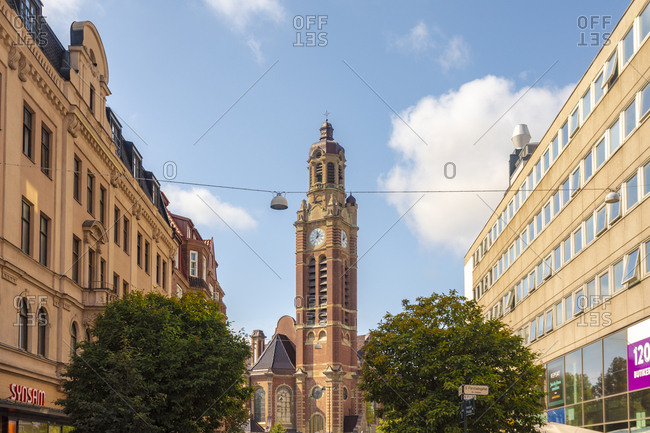 September 3, 2018: Low angle view of cathedral against sky in city