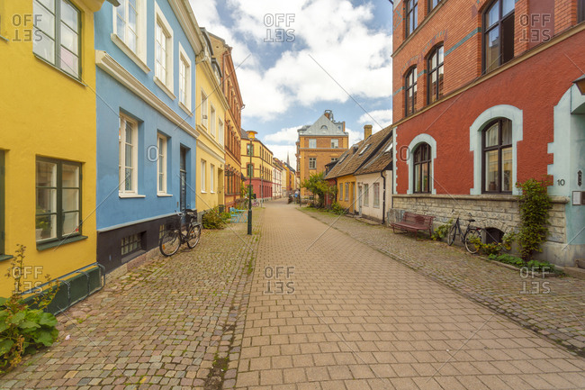 September 3, 2018: Empty street amidst buildings in city