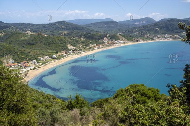 Scenic view of coastline at Corfu