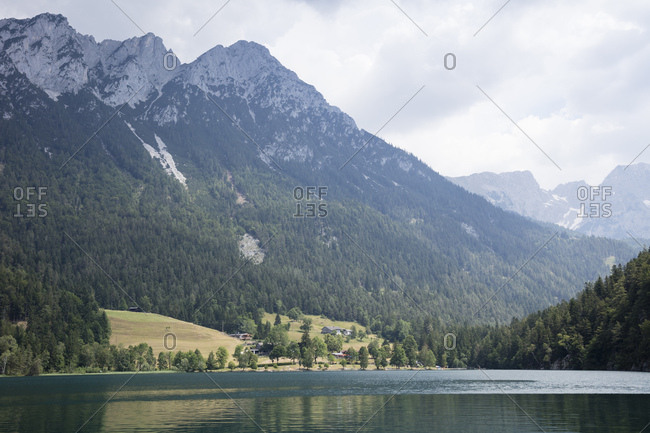 Austria- Tyrol- Hinterstein Lake near Scheffau at Wilder Kaiser Nature Reserve