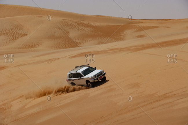 Sultanate Of Oman- Wahiba Sands- Dune bashing in a SUV