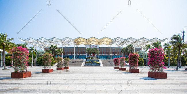 October 12, 2019: Hainan boao railway station, China