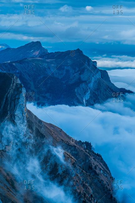 The Alps scenery