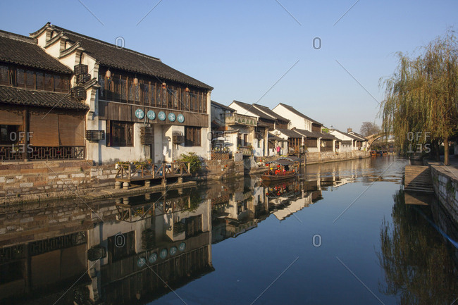 October 12, 2019: Xitang watertown canal, China