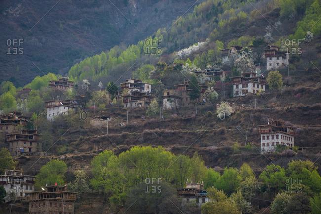 Ganzi Tibetan village of sichuan province