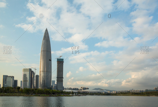 October 12, 2019: Shenzhen nanshan district in the eve, Chinaning