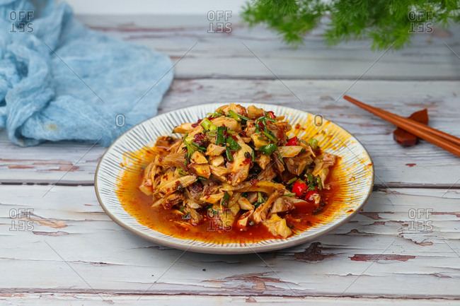Steamed Chicken with Chili Sauce