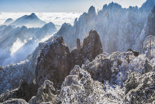Huangshan mountain scenery