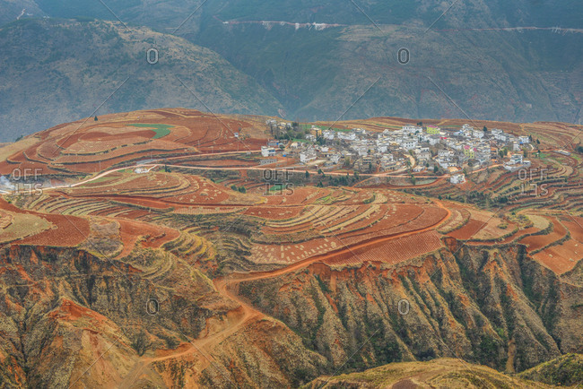 October 12, 2019: Dongchuan grand scenery, Yunnan province, China