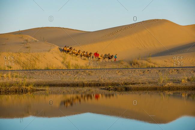 October 12, 2019: Luo Buren village, Xinjiang, China