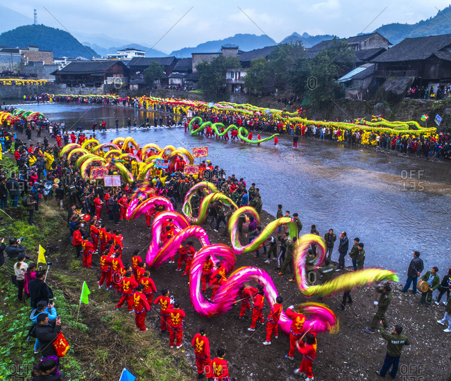 October 12, 2019: The dragon festival, Guizhou Province, China