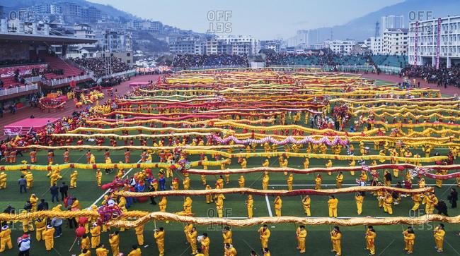 October 12, 2019: The dragon festival, Guizhou Province, China